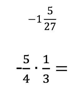 Fraction Scavenger Hunt - Multiplication and Division