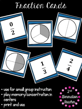 Fraction Sort and Game Cards