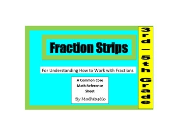 Fraction Strip Manipulatives for Common Core Math
