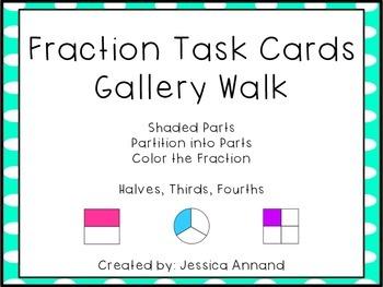Fraction Task Cards Gallery Walk
