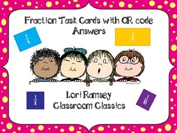 Fraction Task Cards with QR Code Answers