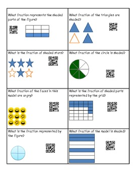 Fraction Task Cards with Self-Check QR Codes