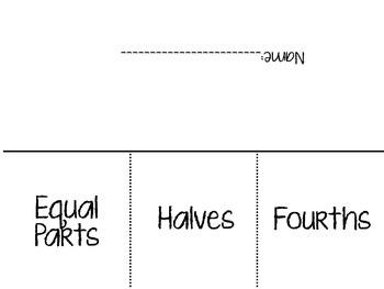 Fraction Vocabulary Flip Flap Book