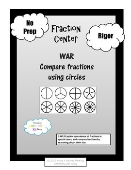 Fraction War (with circles)