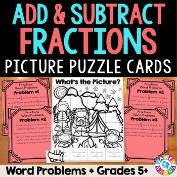 Adding and Subtracting Fractions Word Problems (5th Grade