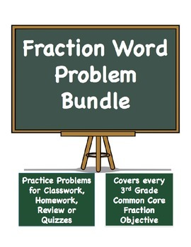 Fraction Word Problems Bundle