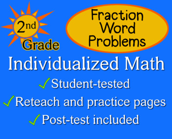 Fraction Word Problems, second grade - Individualized Math