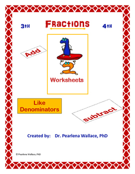Fractions:  Add and Subtract Fractions Worksheets