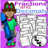Fraction and Decimal 40 day Activity Printable