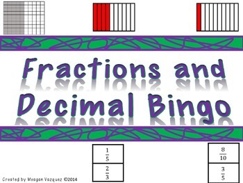 Fraction and Decimal Bingo Class Set