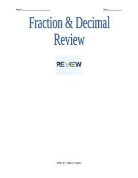 Fraction and Decimal Comparison Review