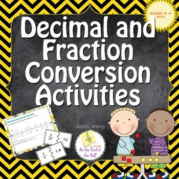 Fraction and Decimal Conversion Activities