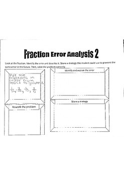 Fraction and Decimal Error Analysis