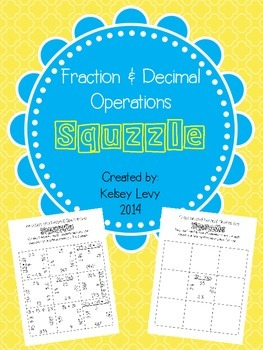 Fraction and Decimal Operations Squzzle