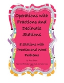 Fraction and Decimal Operations Stations - Math Centers