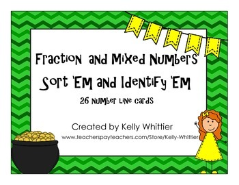 Fraction and Mixed Numbers on Number Lines - Identify and
