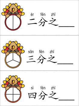 Fraction in Chinese 分数(感恩节版)