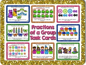 Fractions of a Group Task Cards