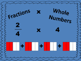 Fraction x Whole Number Word Problems  4.NF.B.4c