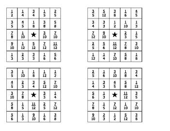 Fraction/Decimal Bingo