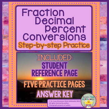Fraction/Decimal/Percent Conversions - Student Notes and P