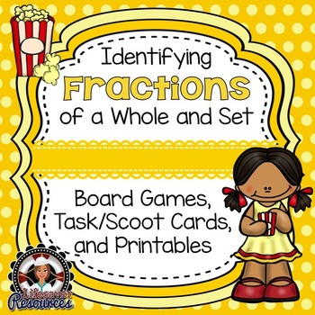 Fractions Game & Printable Worksheets- Identifying fractio