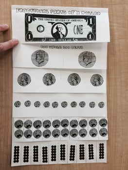 Fractional Parts of A Dollar: Counting Money Flap Book