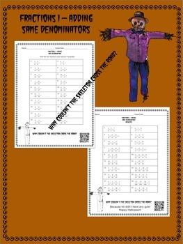 Halloween Math Fractions