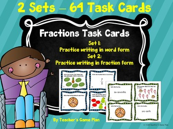 Fractions - 2 Sets of Task Cards