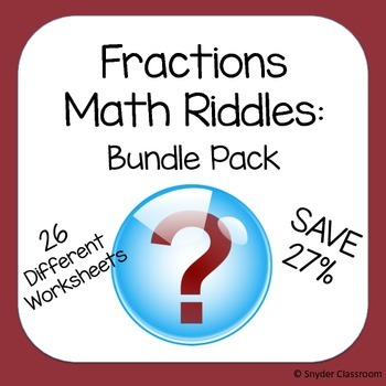 Fractions Math Riddles Bundle
