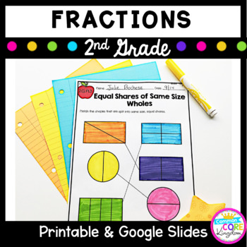 Fractions- Partitioning Circles and Rectangles- 2nd Grade