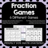 Fraction Games - 6 Fractions Games