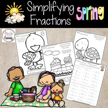 Fractions Activity Spring Time, includes Mixed and Imprope