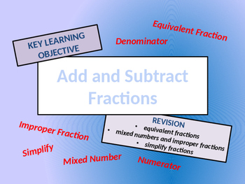 Fractions - Add and Subtract