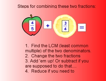 Fractions Adding Subtracting Denominators