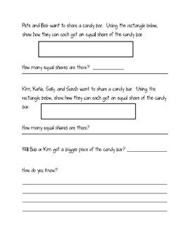 Fractions Assessment- First Grade