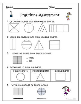 Fractions Assessment Freebie