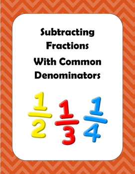Math: Fractions - Basic Subtraction with Common Denominato