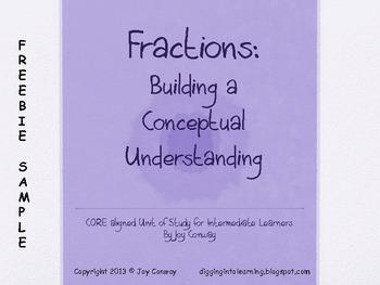 Fractions Building Concepts Freebie