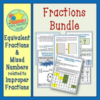 Fractions Activities Bundle - Improper and Equivalent Fractions
