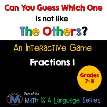 Fractions - Can you guess which one? Game I