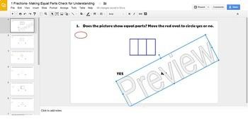 Fractions Check for Understanding-Digital Resource