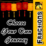 """Fractions: """"Choose Your Own Journey"""" Book"""