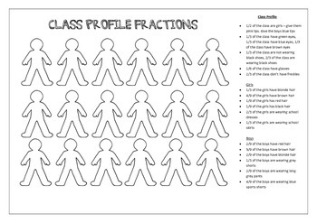 Fractions - Class profile game