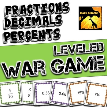 Fractions, Decimals, & Percents - War Games