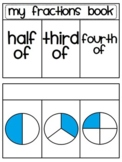 Fractions Book (Half of, Third Of, Fourth Of) - UK spellin