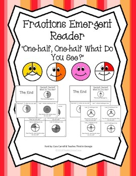 "Fractions Emergent Reader ""One-half, One-half What Do You"