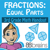 Fractions: Equal Parts pgs. 1 & 2 (Common Core)