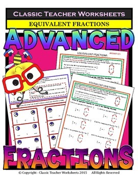 Fractions - Equivalent Fractions & Fraction Circles - Grad
