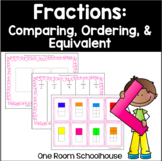 Fractions: Equivalent, Ordering, and Comparing (Print and Go)
